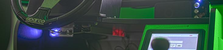 Fahrsimulator Bedienung - Lenker + Gang