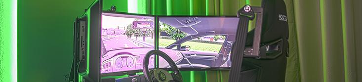 Fahrsimulator Seitenansicht